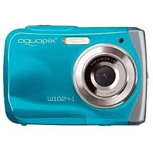 """Easypix Aquapix W1024-I - Cámara digital (10 megapíxeles, pantalla de 6,1 cm/2,4"""", sumergible hasta 3 m), color azul [Importado de Alemania]"""