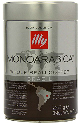 Illy Monoarabica Whole Bean, Single Origin Brazil Coffee Beans 8.8 Ounce (Caribou Decaf Coffee Whole Bean compare prices)