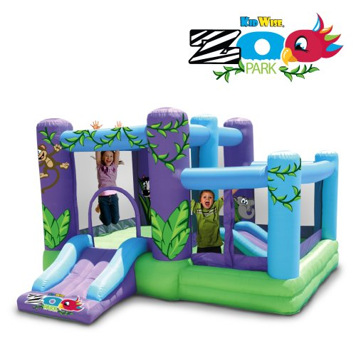 Kidwise Zoo Park Inflatable Bounce House With Ball Pit back-887945