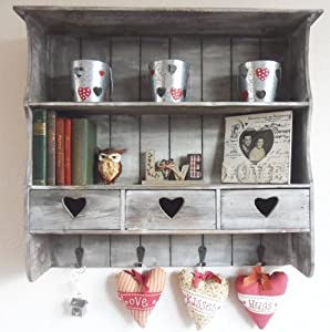 Shabby Vintage Chic Reclaimed Wood Shelving Unit With