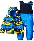 Columbia Baby-Boys Infant Fresh Pow Set, Hyper Blue Print, 18/24 Months