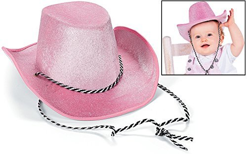 Fun Express Small Toddler-Sized Pink Cowboy Hat, 17 3/4""