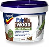 Polycell Polyfilla Wood Large Repair 250gm White Tub