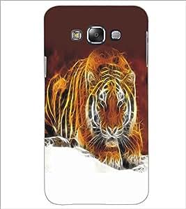 SAMSUNG GALAXY E7 TIGER Designer Back Cover Case By PRINTSWAG