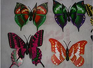 Tarmader 12PCS 3D Butterfly Wall Stickers Decor Art Decorations