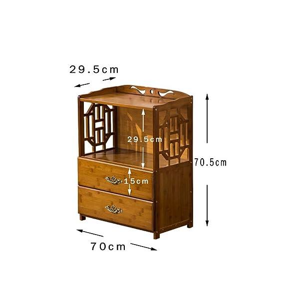 L&Y Mobili da cucina scaffali cinesi semplici piani della libreria pavimento in bambù mix creativo di studenti che vivono stanza cassetto rack di stoccaggio scaffalatura Scaffale ( dimensioni : 70*29.5*70.5 )