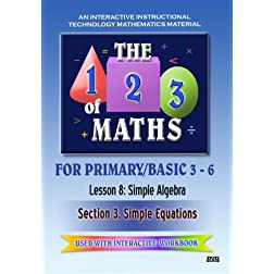 The 123 of Maths : Les. 8 Simple Algebra 3
