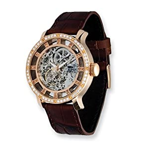Fashionista Chameleon Swarovski Bezel/brown Strap Watch by Moog Watches, Best Quality Free Gift Box Satisfaction Guaranteed