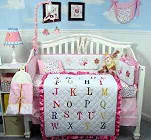 Soho Girl Alphabet Baby Bedding