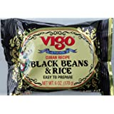 Vigo Authentic Cuban Recipe Black Beans and Rice Easy to Prepare Low Fat 6 Oz (170g) Package (2 Packs)