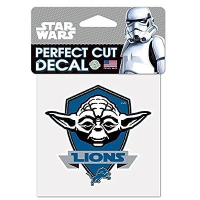 Detroit Lions Official NFL 4 inch x 4 inch Star Wars Yoda Die Cut Car Decal by Wincraft 401861