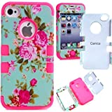 4s case,Canica Carryberry 4s cases,4s case cover,iphone 4 case,iphone 4 cases,iphone 4s case cover,iphone 4s cases, beautiful design 3in1 hybrid case cover for iphone 4 4s (flowers 4)