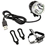 1200LM 3 Modes CREE 5V XML-T6 USB LED Headlamp Headlight Bike Bicycle Light