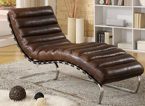 Chaise-Echtleder-Vintage-Leder-Relaxliege-Design-Recamiere-Liege-Sessel-Chaiselongue-Ledersessel-NEU-436
