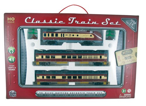 WowToyz Classic Train Set - Diesel Engine with Passenger Cars