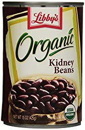 Libby\'s Organic Dark Red Kidney Beans, 15-Ounce Cans (Pack of 12)