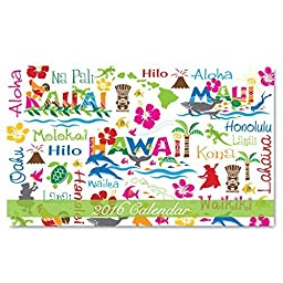 2016 Pocket 12 Month Calendar: Hawaiian Adventures by Welcome to the Islands