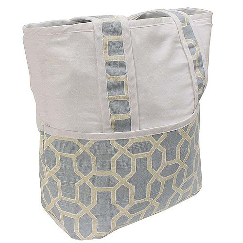 Hoohobbers Tote Diaper Bag, Pebbles Sky Blue