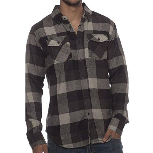 Camicia A Maniche Lunghe Element Tacoma Flint Nero (L , Nero)