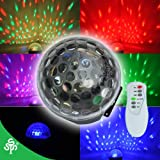 TSSS® Mini LED RGB Crystal Magic Ball Effect light DMX Disco DJ Stage Lighting For Xmas Home Dance Party Ballroom Club Pub Bar+Remote Control,24 Month Warranty