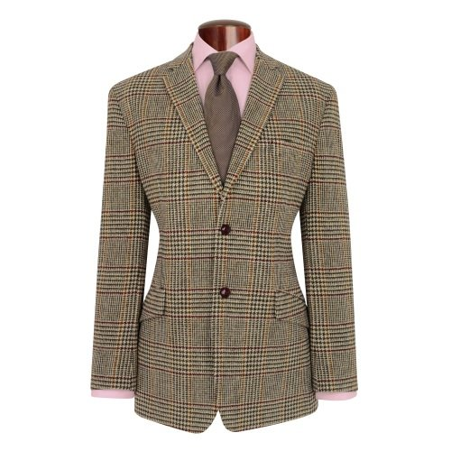 Genuine New Mens Fitted Harris Tweed Light Weight Wool Dougal Jacket