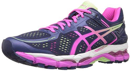 ASICS Women's Gel Kayano 22 Running Shoe, Indigo Blue/Pink Glow/Pistachio, 8 M US