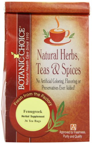 Botanic Choice Fenugreek, 36 Tea Bags (Pack Of 3)
