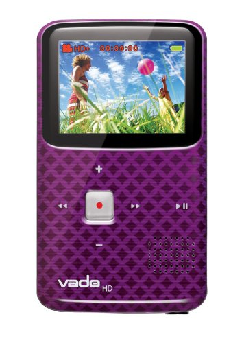 VADO VF0624 Camcorder with 2x Optical Zoom and 2-inch LCD Screen - PURPLE