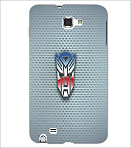 PrintDhaba Mask D-1818 Back Case Cover for SAMSUNG GALAXY NOTE 1 (Multi-Coloured)