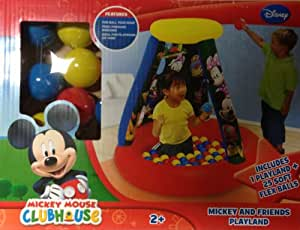 Mickey Mouse Clubhouse Inflatable Ball Pit with 25 Soft Flex Balls