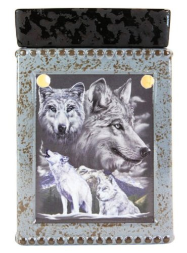 Tall Ceramic Wolf Electric Candle Warmer