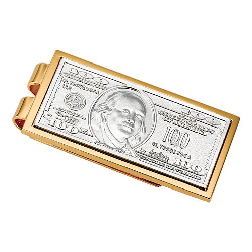 100 Dollar Bill Money Clip In Stainless Steel