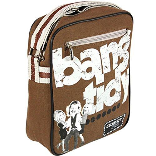 Celebrity Juice Bang Tidy Flight-Borsa, colore: Marrone