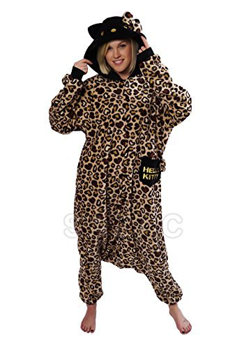 Hello Kitty Leopard Kigurumi (Brown)