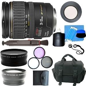 Canon EF 28-135mm f/3.5-5.6 IS USM Standard Zoom Lens + 5 Lens Premium Accessory Kit For Canon EOS 20D, EOS 30D, EOS 40D, EOS 50D, EOS 60D DSLR Camera