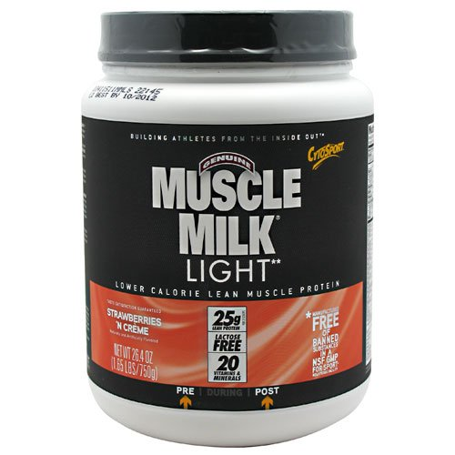 Cytosport Muscle Milk Light Straw. Shake, 1.64Lb Container