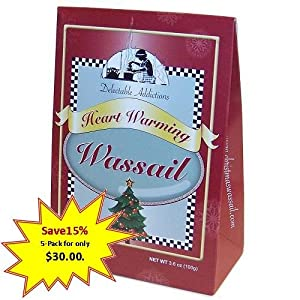 Heart Warming Wassail Mix Gift Box 5-pack from Delectable Addictions Gourmet Food Mixes