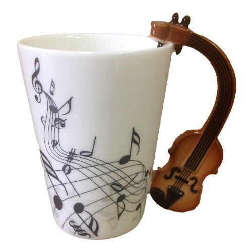 I Am Mug® 226228-228 Guitar Music Notes Ceramic Tea Coffee Milk Cup Mug 8Oz (10Cm X 8Cm) (Brown)