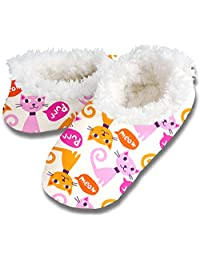 snoozies! Purr Meow Women's Sherpa Footcoverings