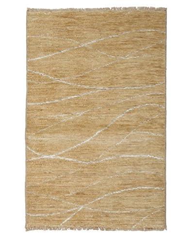 Darya Rugs Ikat Oriental Rug, Tan, 3' 3 x 5'
