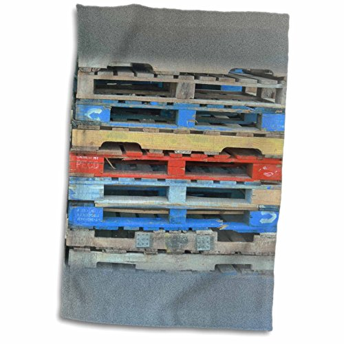 3dRose Florene Decorative - Blue Gray Red Crab Traps - 12x18 Towel (twl_35429_1) (Crab Trap Hotel compare prices)