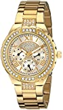 GUESS Women's U0111L2 Sparkling Hi-Energy Mid-Size Gold-Tone Watch