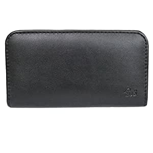 J Cover A3 Rich Leather Soft Carry Case Mobile Hand Pouch Cover Holder For Amoi A920W Black