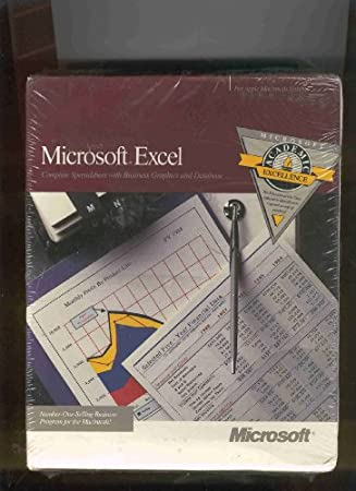 Microsoft Excel Version 2.2 Apple Macintosh 800K Floppy - Academic Educational Edition