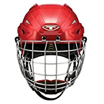 Tour Hockey Spartan Gx Hocley Helmet with Cage, Red, Large