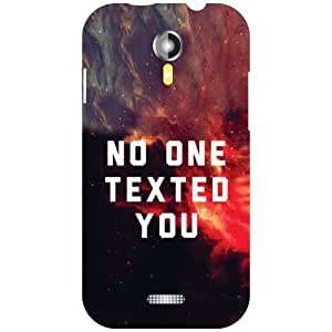 Micromax A 117 No One Texted Matte Finish Phone Cover - Matte Finish Phone Cover