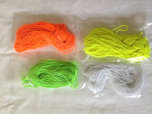 40 Yoyo String (10 Each - Florescent Lime Green, Yellow, Orange and White) - 1