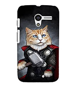 EPICCASE Superhero cat Mobile Back Case Cover For Moto X (Designer Case)