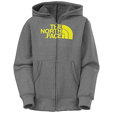 The North Face Boys Half Dome Full-Zip Hoodie Charcoal Heather Grey Size Xs (6)