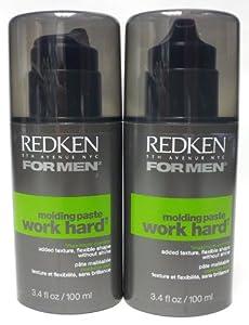 Redken Molding Paste Work Hard for Men, 3.4 oz (Pack of 2)